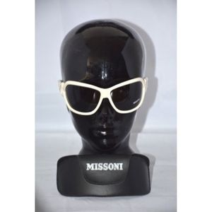MISSONI white frame black lense MI57002 sunglasses